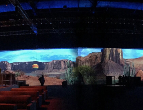 380ft Wide Panoramic Projection Screen Video Mapping