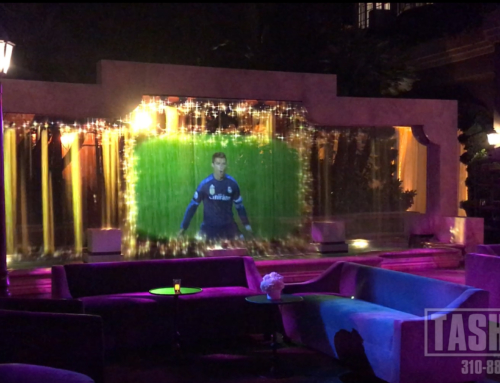 Water Screen with Video Projection